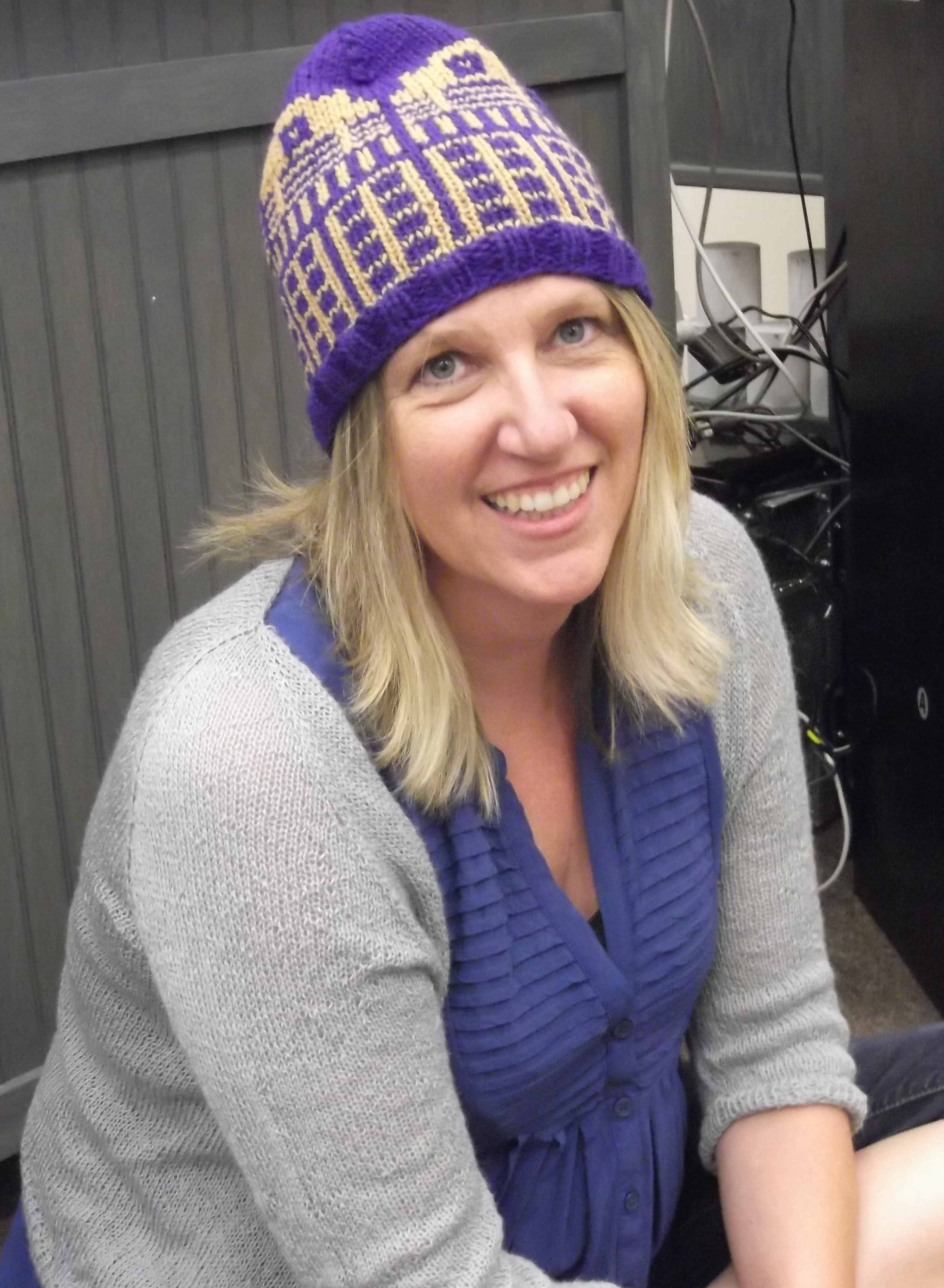 Stacy's hat/ Deanne's Sweater