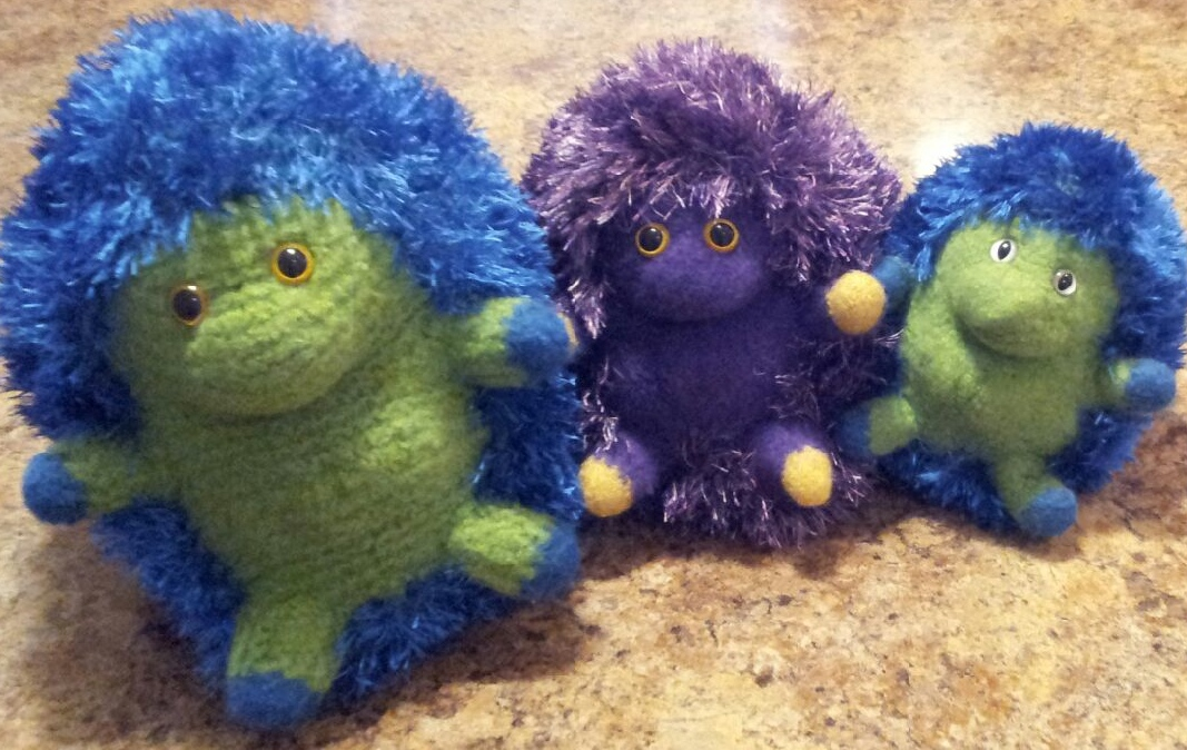 Some felted hedgehogs