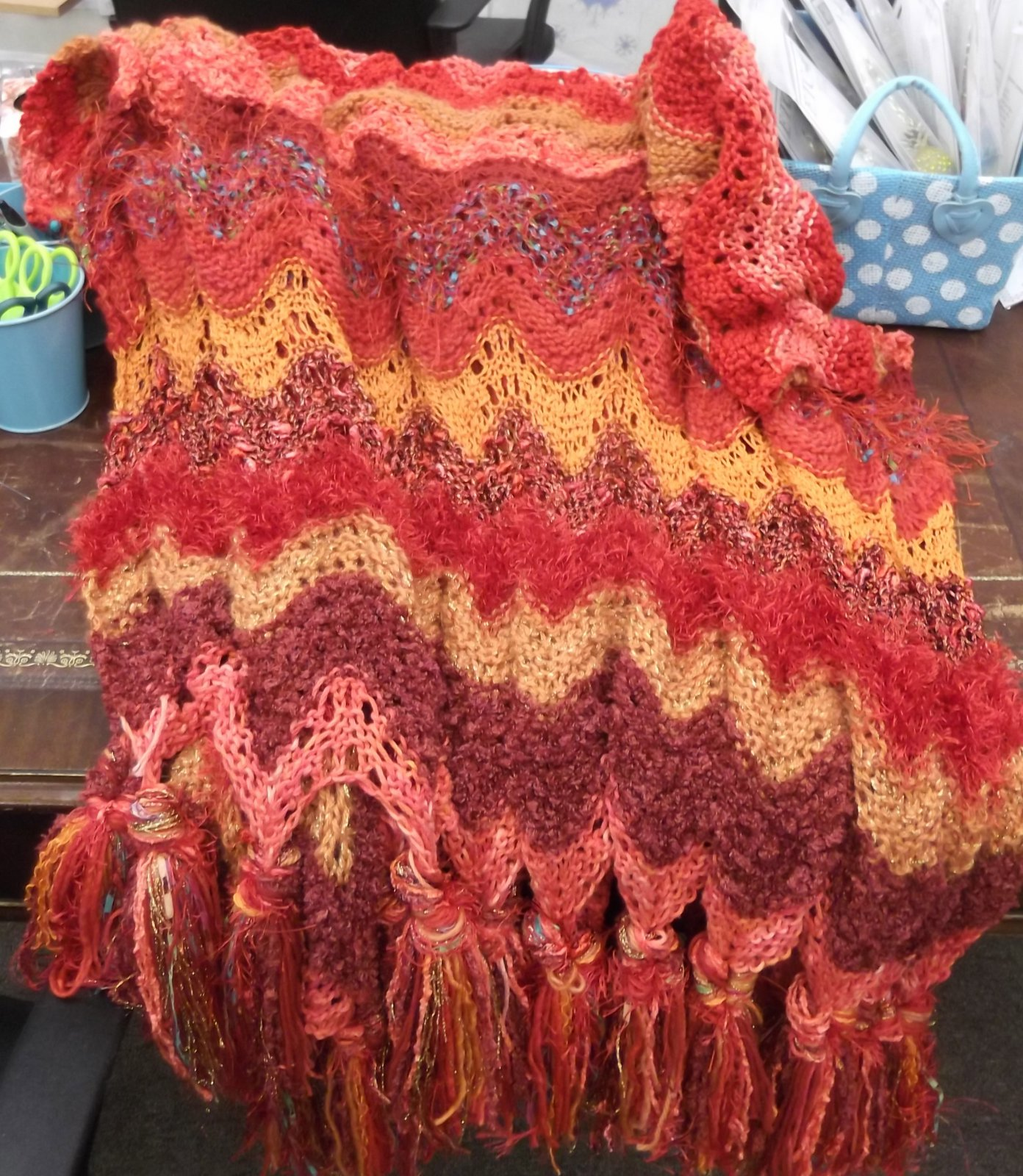 Georgie\'s Knitted Throw