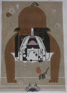 Charlie Harper Bulldog Canvas