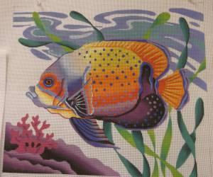 Julia's Needleworks Fish Canvas