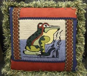 Virginia's Frog Pillow